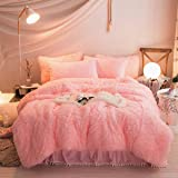 VaryCarry Warm Shaggy Sherpa Blankets Fluffy Soft Fuzzy Faux Fur Throw Blanket for Xmas Couch Sofa Photo Home Decor Pink Bed