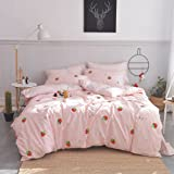 Enjoylife 100% Coton Bedding Bedroom 3 pcs Sets with 2 Envelope Pillowcase, Soft Duvet Cover for Kids/Teens/Adults Hidden Zip