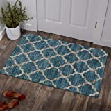 Lahome Moroccan Area Rug - 2' X 3' Faux Wool Non-Slip Area Rug Small Accent Distressed Throw Rugs Floor Carpet for Door Mat E