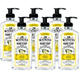 JR Watkins Gel Hand Soap, Lemon, 6 Pack, Scented Liquid Hand Wash for Bathroom or  Kitchen, USA Made and Cruelty Free, 11 fl