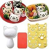 Hofumix Bento Accessories Sushi Mold Rice Ball Mold Cartoon Cat Pattern Sushi Bento Nori Kitchen Rice Decor Kits Sandwich DIY