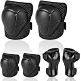 Uggkin Kids Protective Gear Set Knee Pads Elbow Pads Wrist Guards 3 in 1 Safety Pads Set for Kids for Cycling Skating Rollerb