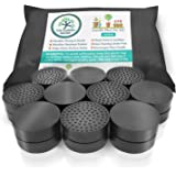 Invisible Pot feet for outdoor plant pots and flowers. Solid rubber pot risers with enhanced grip | 20 PACK.
