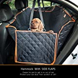 Lantoo Dog Seat Cover, Large Back Seat Pet Seat Cover Hammock for Cars, Trucks, SUVs with Nonslip Backing, Side Flaps, Waterp