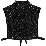 F Fityle Womens Chiffon Bowknot Stand False Collar, Polka Dot Detachable Half Shirts Blouse Collar Dickey Collar