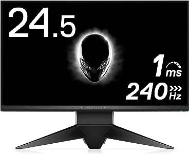 ALIENWARE ゲーミングモニター 24.5インチ AW2518H(3年間交換保証/フレームレス/1ms/240Hz/G-SYNC/フルHD/TN非光沢/DP,HDMI/高さ調整/回転)