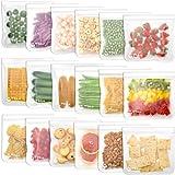Reusable Food Storage Bags - 18 Pack BPA Free Reusable Sandwich Bag Leak Proof Reusable Freezer Bag Extra Thick Reusable Snac