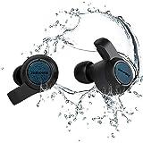 Jabees Firefly.2 Touch Waterproof & Dustproof IP67 Wireless Earbuds,Water Sports Earphone, Dual Microphones Headset Qi-Enable