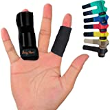 BodyMoves Finger Splint Plus Sleeve (2 pc Set, Midnight Black)