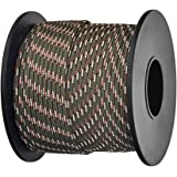 Brotree パラコード 2mm 3芯 ボビン巻型 テント ロープ ガイライン 耐荷重90kg DIY編む用 キャンプ サバイバル アウトドア用 (30m / 50m)