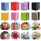 150 Pieces 4×4in Assorted Cotton Craft Fabric Bundle Printed Patchwork Squares for DIY Sewing Quilting Scrapbooking