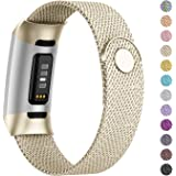 Adepoy Compatible for Fitbit Charge 3/Charge 4 Bands,Replacement Wristbands Compatible for Charge 3 SE Fitness Activity Track