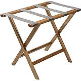 Wooden Mallet Wallsaver Luggage Rack, Grey Straps, Medium Oak Grey Light Oak