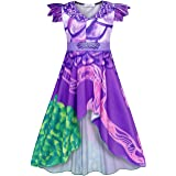 Cotrio Cartoon Costume Girls Popular Musical Dragon Dress Halloween Birthday Party Fancy Dresses