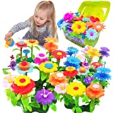 Scientoy Flower Building Toys for girls , building block for kids, build a garden with your friends together, best gift for g
