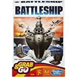Battleship B0995 Grab and Go Game; Portable 2 Player Game; Fun Travel Game for Ages 7 and Up