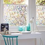 3D No Glue Window Privacy Film Static Window Clings Decorative Film Rainbow Window Film Prism Effect Window Stickers for Home