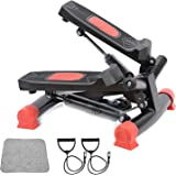 AUSELECT Exercise Bike, Exercise Stepper, Pedal Exerciser Mini Aerobic Stepper Machine with Display, Low Noise Fitness Steppe