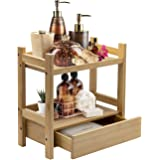 Sorbus Bamboo Makeup Organizer, Multi-Purpose Storage for Skincare, Toiletries, Desktop, Household Items, Display Stand Shelf