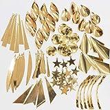 メタルプレート ミックスセット 10種類 計86個 金属 ゴールド アクセサリー チャーム