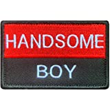 Tactical Handsome Boy Patch, Funny Handsome Boy Patches with Hook and Loop for Attach to Boys Mens Clothes Clothing Caps Jean