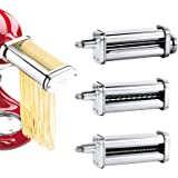 WHIFEA Pasta Maker Attachments Set for Any KitchenAid Stand Mixer, including Pasta Sheet Roller, Spaghetti Cutter, Fettuccine