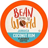 Bean Around The World Coconut Rum Flavored Coffee Compatible With 2.0 Keurig K Cup Brewers, 40 Count