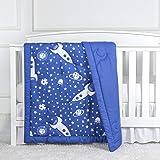 "TILLYOU Ultra Soft Toddler Quilts, Warm Lightweight Microfiber Crib Comforter for Boys Girls, 39"" x 47"" Printed Baby Nursery"