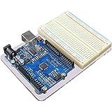 JBtek Acrylic Transparent Base Plate & Terminal Optimizer Breadboard for Arduino UNO R3