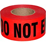 Sharp Red Danger Do Not Enter Tape 3 X 1000 • Sharp Red with a bold Black Print for High Visibility • 3 in. wide for Maximum
