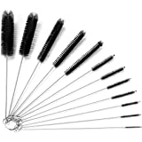 Kiemeu Small Pipe Cleaning Brushes for Small Spaces,Small Brush for Cleaning Reusable Straw Cleaner Brush,Small Pipe Cleaner
