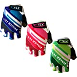 Kids Junior Cycling Gloves Outdoor Sport Road Mountain Bike Monkey Bars, Fit Boy Girl Youth Age 2-10, Gel Padding Bicycle Hal
