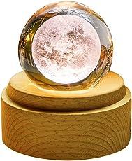 オルゴール プレゼント Tengis クリスタル ボール 間接照明 おしゃれ インテリア 雑貨 置物 かわいい 文鎮 ペーパーウェイト 結婚祝い プレゼント 投影効果 (星に願いを)