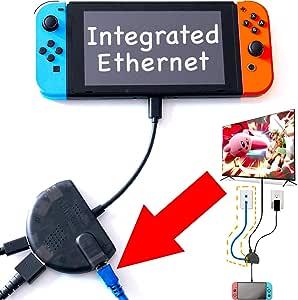 switch ドック 変換アダプター Switch Dock HDMI変換アダプター 有線LAN搭載/充電/ Ethernet (RJ45) by CharJenPro Stingray Nintendo Switch docking station: HDMI, 2 USB, Ethernet Funded by Kickstarter 半透明ブラック