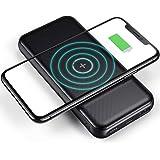 CHOETECH モバイルバッテリー ワイヤレス 充電器 qiモバイルバッテリー 10000mAh 大容量 【ワイヤレス10W / USB-Cポート18W / USB-Aポート18W / 無線と有線両用】 置くだけ充電 type cコード付き iPh