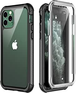 iPhone 11 Pro ケース 5.8インチ 耐衝撃 360 全方向保護 米軍MIL規格取得 Qi充電対応 超軽量 クリア 画面防塵 傷 落下防止 高耐久ケース シンプル (iPhone 11 Pro)