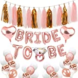 Bachelorette Party Decorations Bridal Shower Balloons Kit Includes:Bride to Be Balloons Banner +Diamond Ring Balloons+Heart F
