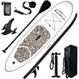 """FEATH-R-LITE Inflatable 10'×30""""×6"""" Ultra-Light (17.6lbs) SUP for All Skill Levels Everything Included with Stand Up Paddle Bo"""