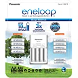 Eneloop Rechargeable Battery Charger Multi Pack, 1 x Charger + AA 8 Cells 2000mAh + AAA 4 Cells 800mAh