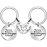 Mother Daughter Gifts, 2 Pcs Keychains Key Rings for Women Mom Daughter Gifts Christmas Thanksgiving Birthday