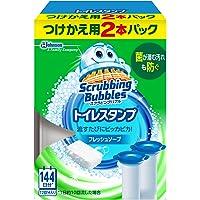 スクラビングバブル トイレ洗浄剤 トイレスタンプクリーナー フレッシュソープの香り 付替用2本 38g×2本