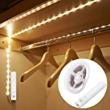 Amagle LED Dual Mode Motion Night Light, Flexible LED Strip with Motion Sensor Closet Light for Bedroom Cabinet, Nature White