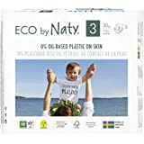 Eco by Naty Baby Diapers, Size 3, 180 Ct, Plant-based with 0percent Oil Plastic on Skin, One Month Supply