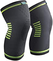 Sable Knee Brace Support Compression Sleeves, 1 Pair FDA Registered Wraps Pads for Arthritis, ACL, Running, Pain Relief,...