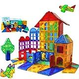 MAGBLOCK 100ピース マグネットブロック 磁気おもちゃ 子供 知育玩具 人気 おもちゃ 女の子 男の子 おもちゃ 収納ケース付き 誕生日 入園 クリスマスプレゼント