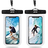 JOTO Universal Waterproof Pouch, IPX8 Waterproof Cellphone Dry Bag Underwater Case for iPhone 13 Pro Max 13 Mini 12 11 Pro Ma