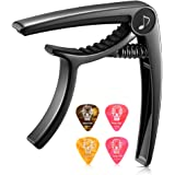 Donner DC-2 Guitar Capo for Acoustic and Electric Guitar, Ukulele Capo Black