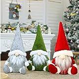 Leipple Christmas Gnome Plush Decorations - Handmade Swedish Tomte Scandinavian Santa Elf Ornaments - Gnome Christmas Decor f