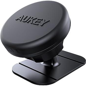 AUKEY 車載ホルダー マグネット式 磁気カーマウントホルダー iPhone 7 Plus/7/6S Plus/6 Plus/6S/6/5S/SE/5 Galaxy S7/S7 などのスマホに対応 ブラック HD-C13