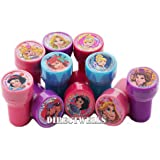 Disney Princess 10 Assorted Self Inking Stampers Party Favor